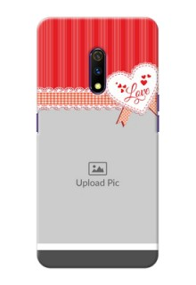 Realme X phone cases online: Red Love Pattern Design