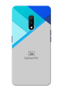 Realme X Phone Cases Online: Blue Abstract Cover Design
