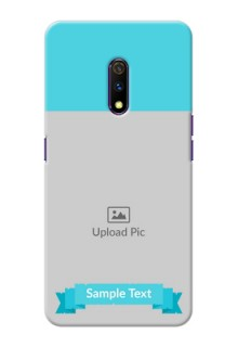 Realme X Personalized Mobile Covers: Simple Blue Color Design