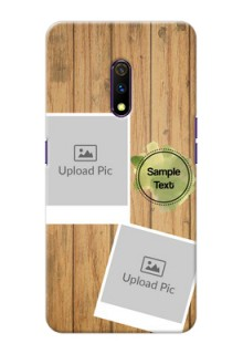 Realme X Custom Mobile Phone Covers: Wooden Texture Design