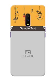 Realme X custom back covers with Family Picture and Icons