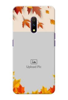 Realme X Mobile Phone Cases: Autumn Maple Leaves Design