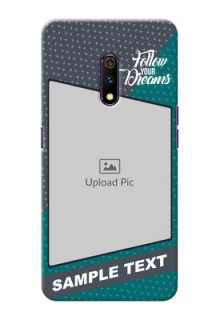 Realme X Back Covers: Background Pattern Design with Quote