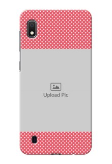 Galaxy A10 Custom Mobile Case with White Dotted Design
