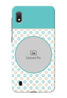 Galaxy A10 Custom Mobile Back Covers: Beautiful Flowers Design