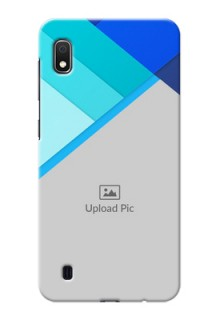 Galaxy A10 Phone Cases Online: Blue Abstract Cover Design
