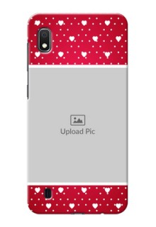 Galaxy A10 custom back covers: Hearts Mobile Case Design