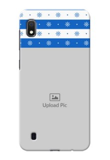 Galaxy A10 custom mobile covers: Snow Pattern Design