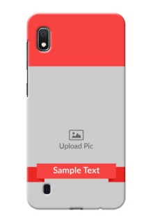 Galaxy A10 Personalised mobile covers: Simple Red Color Design