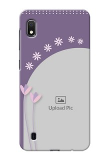 Galaxy A10 Phone covers for girls: lavender flowers design