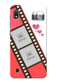 Galaxy A10 custom phone covers: 3 Image Holder with Film Reel