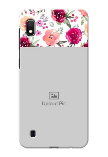 Galaxy A10 Personalized Mobile Cases: Watercolor Floral Design