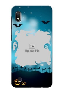 Galaxy A10 Personalised Phone Cases: Halloween frame design