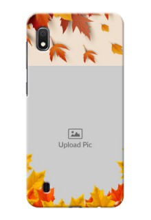 Galaxy A10 Mobile Phone Cases: Autumn Maple Leaves Design