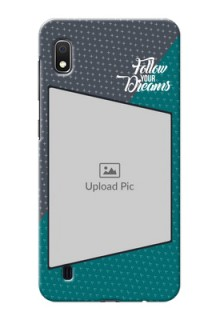 Galaxy A10 Back Covers: Background Pattern Design with Quote