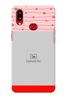 Galaxy A10s Custom Phone Cases: Red Pattern Case Design
