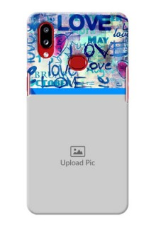 Galaxy A10s Mobile Covers Online: Colorful Love Design
