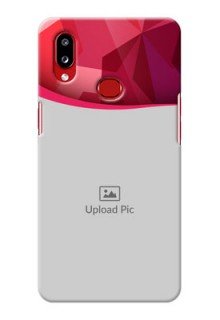 Galaxy A10s custom mobile back covers: Red Abstract Design