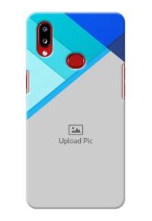 Galaxy A10s Phone Cases Online: Blue Abstract Cover Design