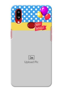 Galaxy A10s custom mobile back covers: Happy Birthday Design