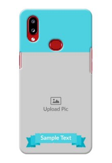 Galaxy A10s Personalized Mobile Covers: Simple Blue Color Design