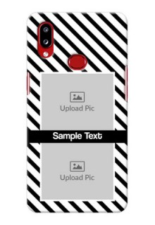 Galaxy A10s Back Covers: Black And White Stripes Design