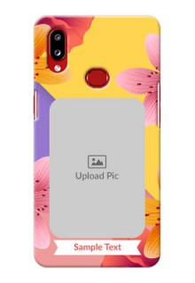 Galaxy A10s Mobile Covers: 3 Image With Vintage Floral Design