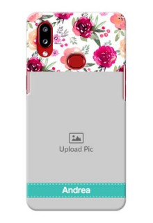 Galaxy A10s Personalized Mobile Cases: Watercolor Floral Design