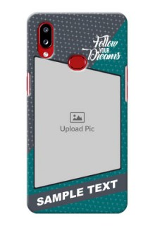 Galaxy A10s Back Covers: Background Pattern Design with Quote