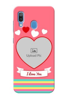Galaxy A20 Personalised mobile covers: Love Doodle Design