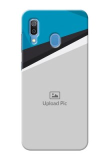 Galaxy A20 Back Covers: Simple Pattern Photo Upload Design