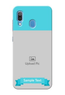 Galaxy A20 Personalized Mobile Covers: Simple Blue Color Design