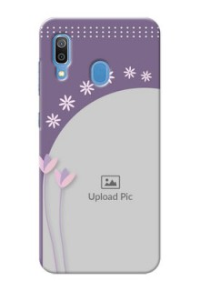 Galaxy A20 Phone covers for girls: lavender flowers design