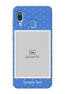 Galaxy A20 Personalised Phone Cases: polka dots design