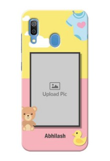 Galaxy A20 Back Covers: Kids 2 Color Design