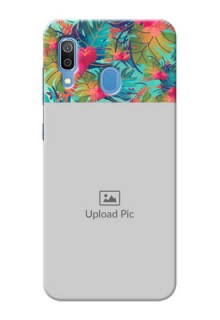 Galaxy A20 Personalized Phone Cases: Watercolor Floral Design