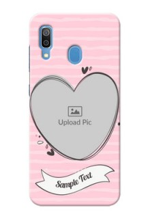 Galaxy A20 custom mobile phone covers: Vintage Heart Design