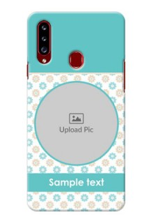 Galaxy A20s Custom Mobile Back Covers: Beautiful Flowers Design