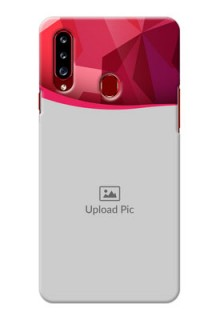Galaxy A20s custom mobile back covers: Red Abstract Design