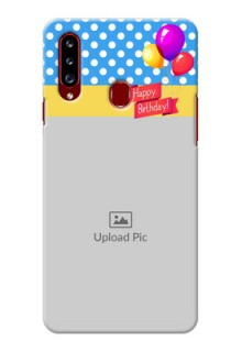 Galaxy A20s custom mobile back covers: Happy Birthday Design