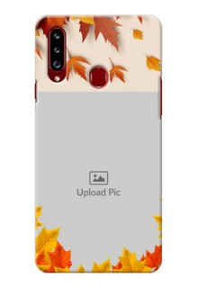 Galaxy A20s Mobile Phone Cases: Autumn Maple Leaves Design