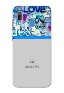 Samsung Galaxy A30 Mobile Covers Online: Colorful Love Design