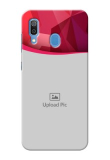 Samsung Galaxy A30 custom mobile back covers: Red Abstract Design