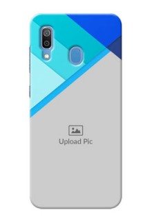 Samsung Galaxy A30 Phone Cases Online: Blue Abstract Cover Design
