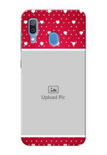 Samsung Galaxy A30 custom back covers: Hearts Mobile Case Design