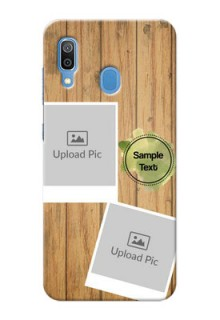 Samsung Galaxy A30 Custom Mobile Phone Covers: Wooden Texture Design