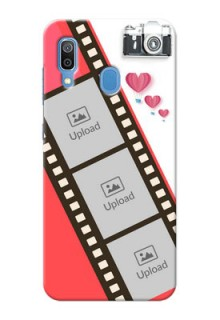 Samsung Galaxy A30 custom phone covers: 3 Image Holder with Film Reel
