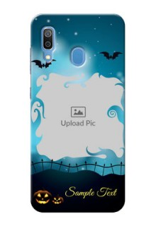 Samsung Galaxy A30 Personalised Phone Cases: Halloween frame design