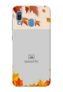 Samsung Galaxy A30 Mobile Phone Cases: Autumn Maple Leaves Design