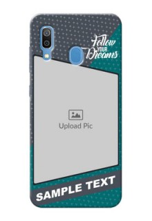 Samsung Galaxy A30 Back Covers: Background Pattern Design with Quote